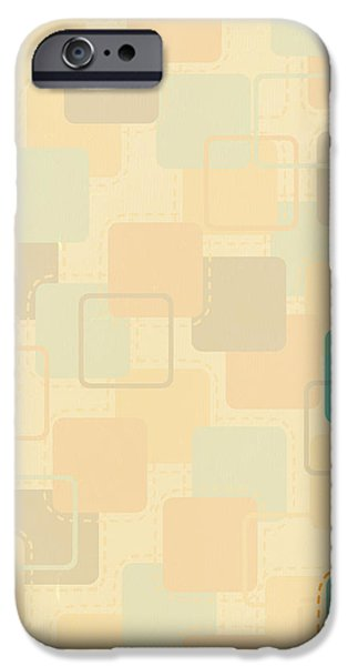 graphic square pattern iPhone Case by Setsiri Silapasuwanchai