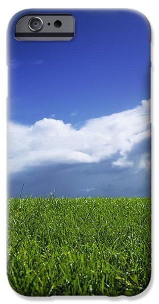Grass In A Field, Ireland iPhone Case by The Irish Image Collection