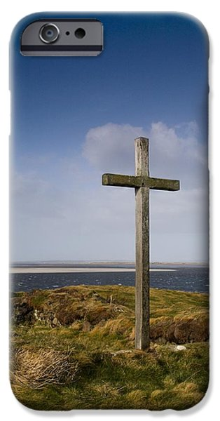 Grave Site Marked By A Cross On A Hill iPhone Case by John Short