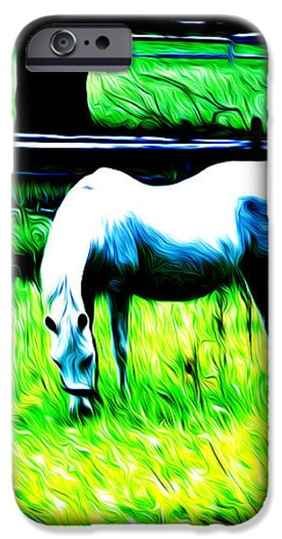 Grazing Horse iPhone Case by Bill Cannon