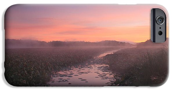 Concord Photographs iPhone Cases - Great Meadows National Wildlife Refuge Dawn iPhone Case by John Burk
