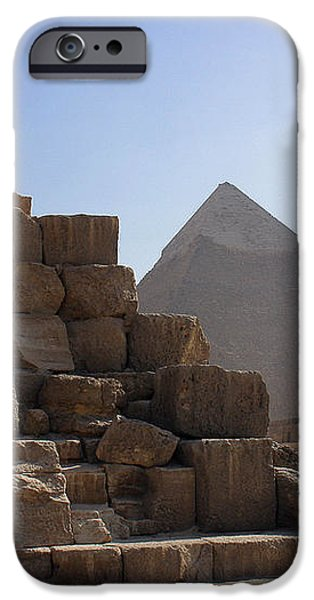Great Pyramids Khafre iPhone Case by Darcy Michaelchuk