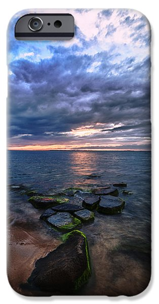 Drama iPhone Cases - Great South Bay iPhone Case by Rick Berk