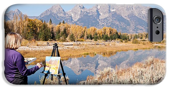 Painter Photographs iPhone Cases - Great Workplace iPhone Case by Bob and Nancy Kendrick