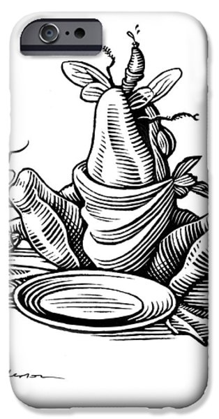 Greedy Frog, Conceptual Artwork iPhone Case by Bill Sanderson