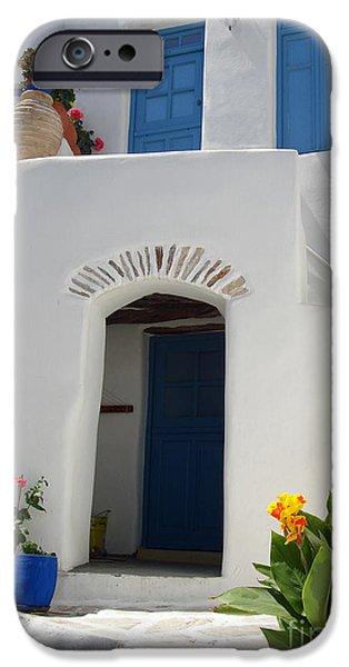 Greek doorway iPhone Case by Jane Rix