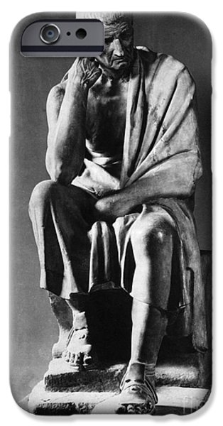 Greek Sculpture iPhone Cases - Greek Philosopher iPhone Case by Photo Researchers