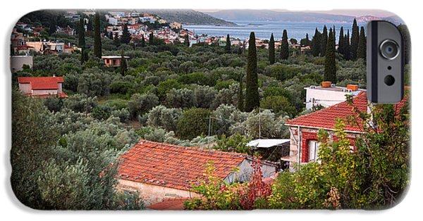 Mesta iPhone Cases - Greek Village  iPhone Case by Emmanuel Panagiotakis