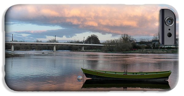 Green Canoe iPhone Cases - Green canoe U.L Limerick Ireland iPhone Case by Pierre Leclerc Photography