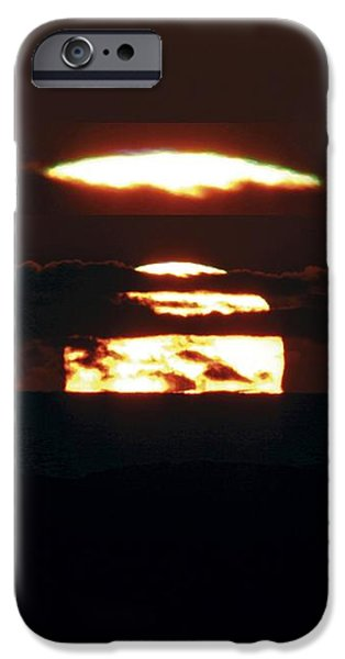 Green Flash At Sunset iPhone Case by Laurent Laveder