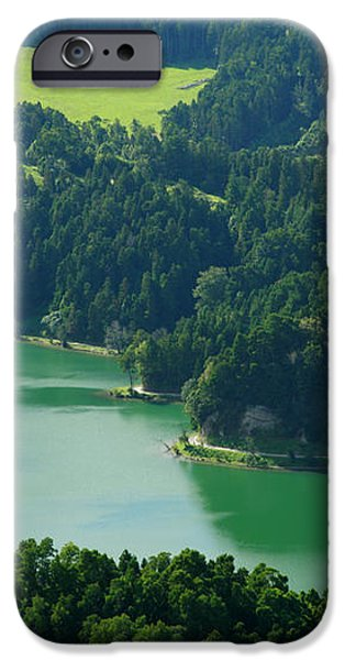 Green Lake - Azores iPhone Case by Gaspar Avila