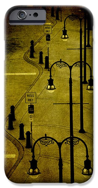 Old Bus Stations iPhone Cases - Green Light iPhone Case by Susanne Van Hulst