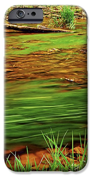 Creek iPhone Cases - Green river iPhone Case by Elena Elisseeva