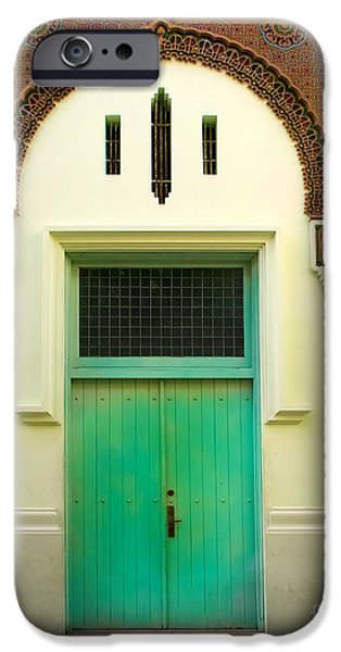 Green Spanish Doors iPhone Case by Perry Webster