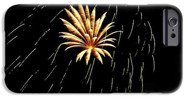 July 4th Digital Art iPhone Cases - Green Streaks iPhone Case by Phill  Doherty