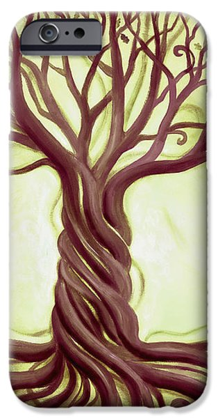 Green Tree of Life iPhone Case by Renee Womack