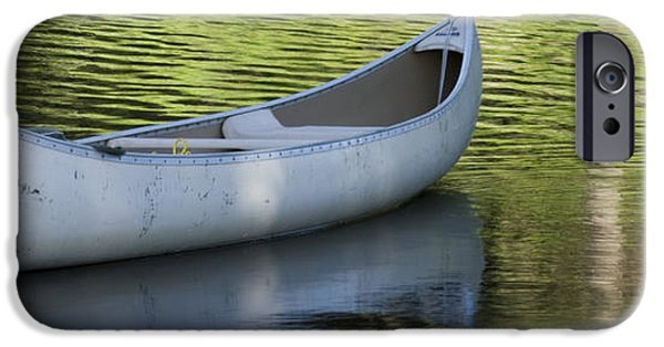 Green Canoe iPhone Cases - Green Water iPhone Case by Idaho Scenic Images Linda Lantzy