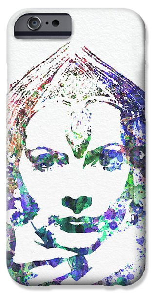 Greta Garbo iPhone Case by Naxart Studio
