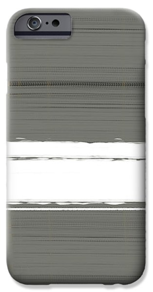 Grey and Yellow iPhone Case by Naxart Studio