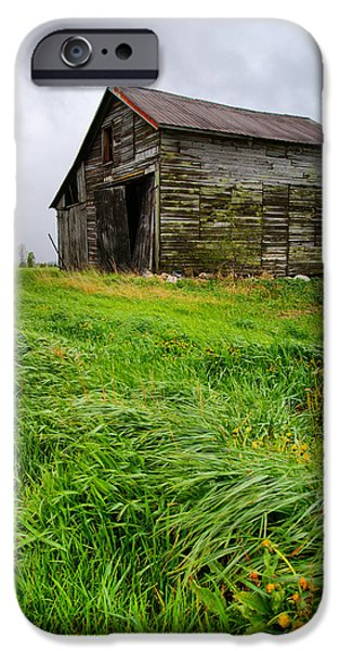 Barns iPhone Cases - Grey County Barn iPhone Case by Cale Best