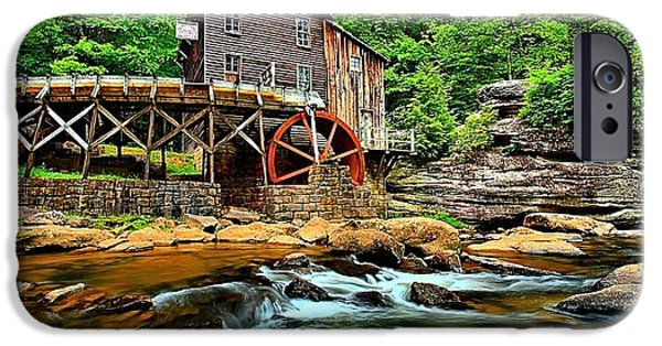 Grist Mill iPhone Cases - Grist Mill At Babcock iPhone Case by Adam Jewell