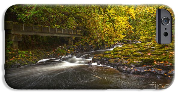 Creek iPhone Cases - Grist Mill Creek iPhone Case by Mike Reid