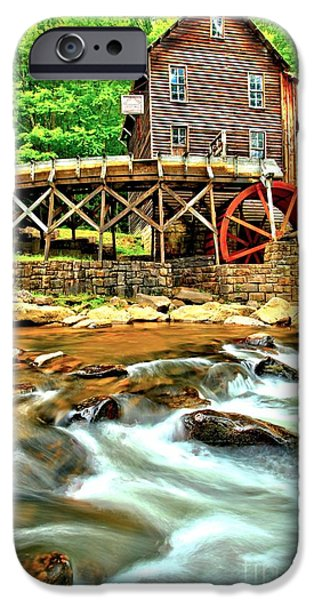 Grist Mill iPhone Cases - Grist Mill In The Forest iPhone Case by Adam Jewell