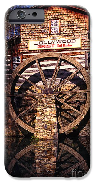 Grist Mill iPhone Cases - Grist Mill in the Smokies iPhone Case by Paul W Faust -  Impressions of Light