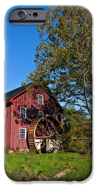 Grist Mill iPhone Cases - Grist Mill painted iPhone Case by Steve Harrington