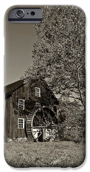 Grist Mill iPhone Cases - Grist Mill sepia iPhone Case by Steve Harrington