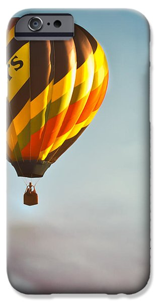 Gritty McDuffs Hot Air Balloon iPhone Case by Bob Orsillo