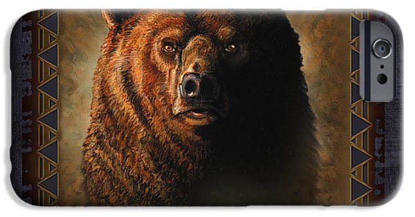 Badlands iPhone Cases - Grizzly Lodge iPhone Case by JQ Licensing