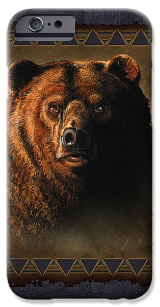 Grizzly Lodge iPhone Case by JQ Licensing
