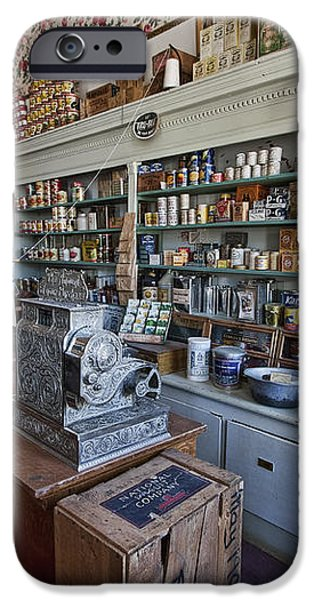 GROCERY STORE of YESTERYEAR - VIRGINIA CITY MONTANA GHOST TOWN iPhone Case by Daniel Hagerman