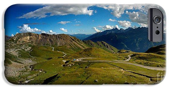 Alps iPhone Cases - Grossglockner High Alpine Road iPhone Case by Nailia Schwarz