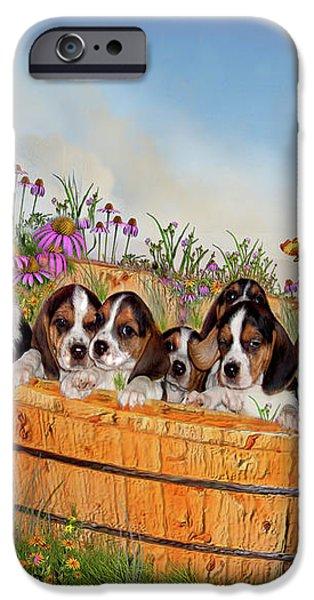 Growing Puppies iPhone Case by Carol Cavalaris