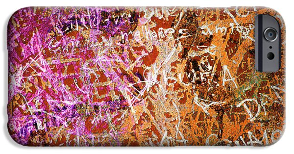 Vandalism iPhone Cases - Grunge Background 3 iPhone Case by Carlos Caetano