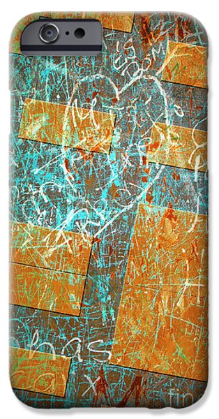 Vandalism iPhone Cases - Grunge Background 6 iPhone Case by Carlos Caetano