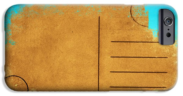 Rag iPhone Cases - Grunge Color On Old Postcard iPhone Case by Setsiri Silapasuwanchai