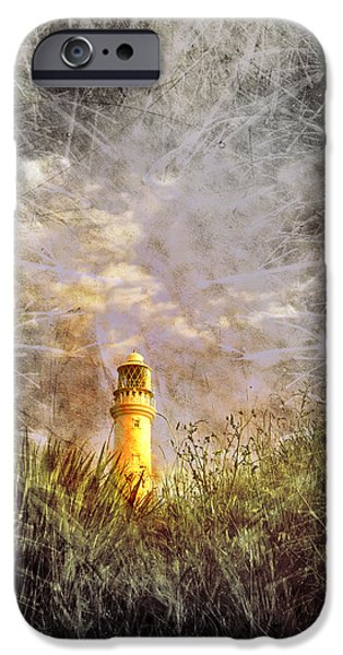 Grunge Light House iPhone Case by Svetlana Sewell