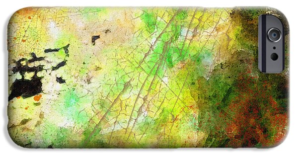 Abstract Digital Photographs iPhone Cases - Grungy abstract iPhone Case by Debbie Portwood