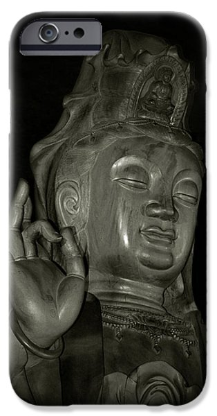 Bodhisattva iPhone Cases - Guan Yin Bodhisattva - Goddess of Compassion iPhone Case by Christine Till