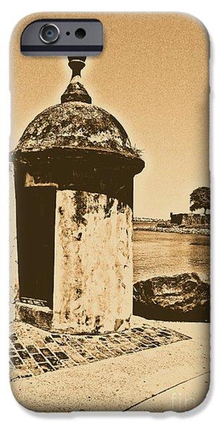 Guard Post Castillo San Felipe Del Morro San Juan Puerto Rico Rustic iPhone Case by Shawn O'Brien
