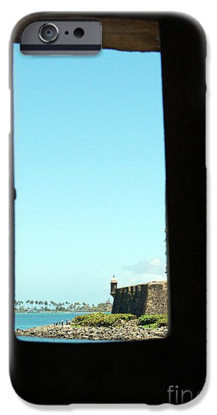 Guard Tower View Castillo San Felipe Del Morro San Juan Puerto Rico iPhone Case by Shawn O'Brien