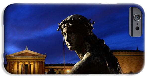 Night Angel iPhone Cases - Guardian Angel of Art iPhone Case by Paul Ward