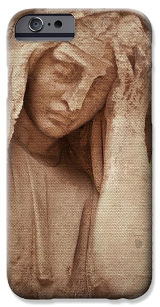 Headstones iPhone Cases - Guardian iPhone Case by Nomad Art And  Design