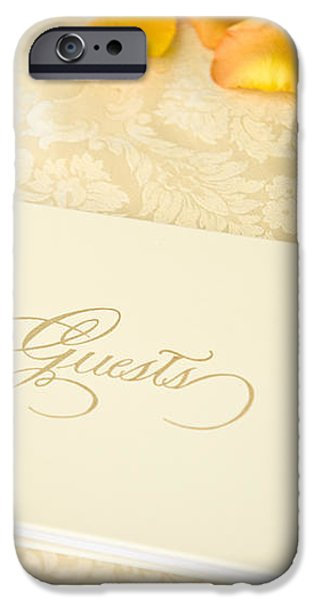 Guestbook on a Table iPhone Case by Ned Frisk