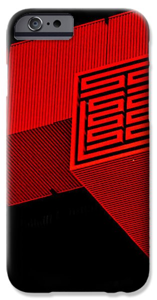 Gugong - Forbidden City Red - Chinese Pavilion Shanghai iPhone Case by Christine Till