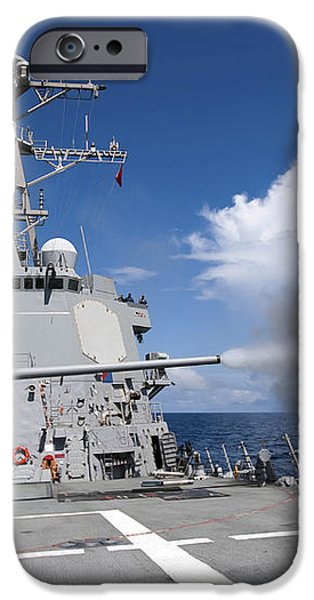 Guided-missile Destroyer Uss Pinckney iPhone Case by Stocktrek Images