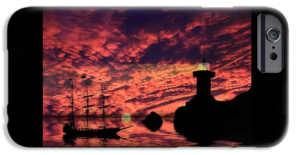 Pirate Ships Photographs iPhone Cases - Guiding The Way iPhone Case by Shane Bechler